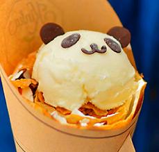 大人気のぱんだアイスクレープ