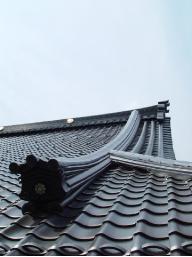 お寺の屋根に使われた瓦