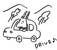ドライブ鹿
