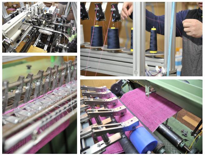 モップを縫う専門の機械