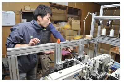 縫製の機械