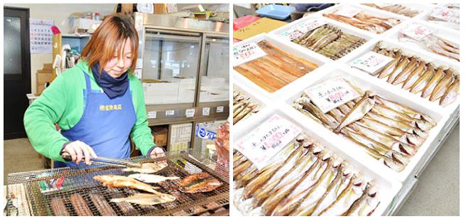 店内で魚も焼けます