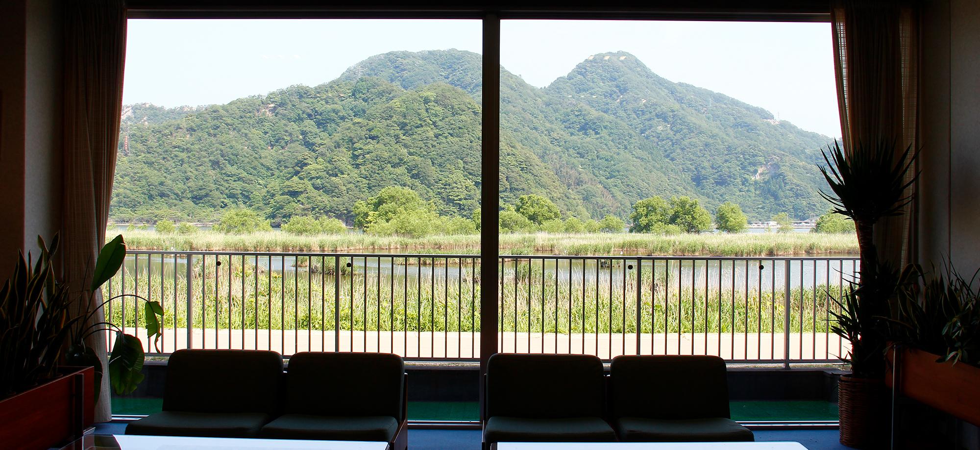 お宿芹の室内から見える素晴らしい外の風景