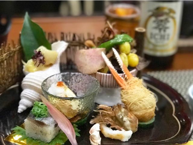 バイ貝 カニ お寿司