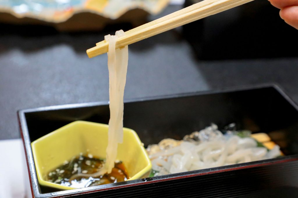 米粉麺のアップ